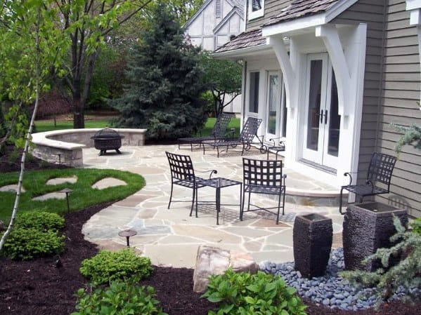 Top 60 Best Flagstone Patio Ideas - Hardscape Designs on Rock Patio Designs  id=56168