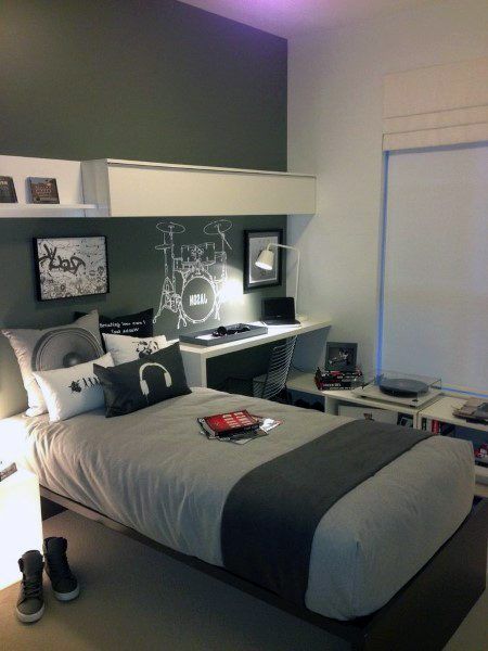 Top 70 Best Teen Boy Bedroom Ideas - Cool Designs For ... on Small Bedroom Ideas For Teenage Guys  id=14238
