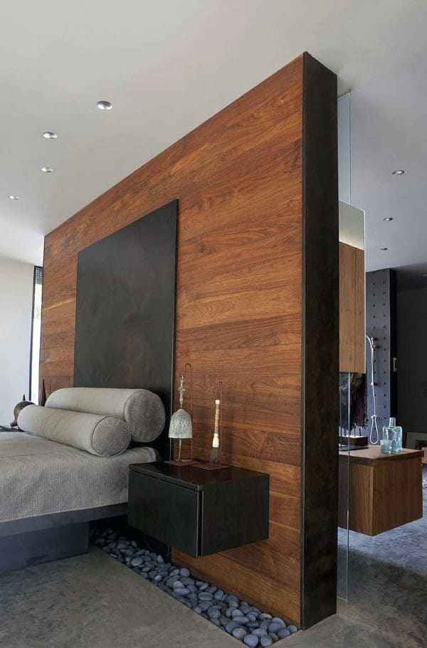 Bedroom Wood Wall Ideas