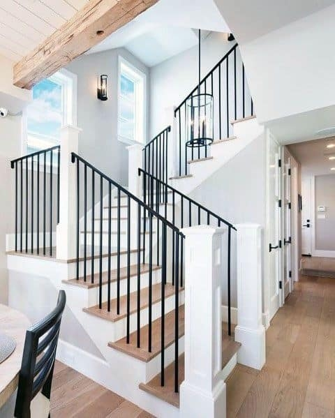 Top 70 Best Stair Railing Ideas Indoor Staircase Designs | Wood And Metal Banister | Modern | Rustic | Stainless Steel | Design | Aluminum