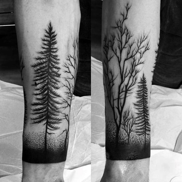 Forest Sleeve Half Tattoo