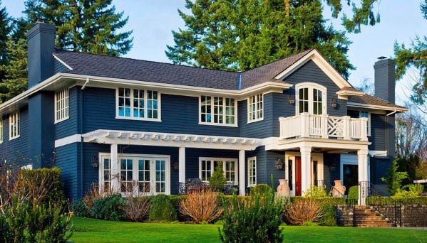 Top 50 Best Exterior House Paint Ideas - Color Designs on House Painting Ideas  id=21807