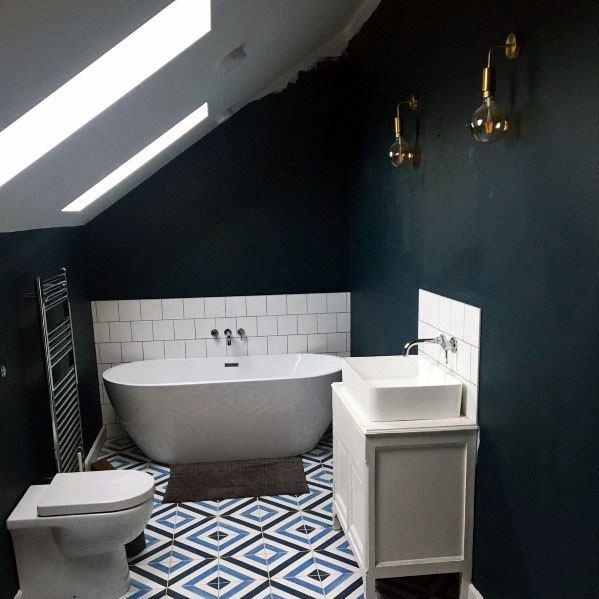 top 50 best blue bathroom ideas navy themed interior designs on blue paint bathroom ideas exterior id=78668