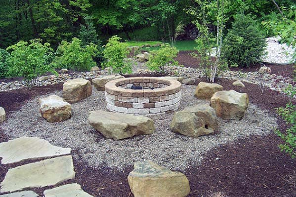 Top 50 Best Fire Pit Landscaping Ideas - Backyard Designs on Garden Ideas With Fire Pit id=69751