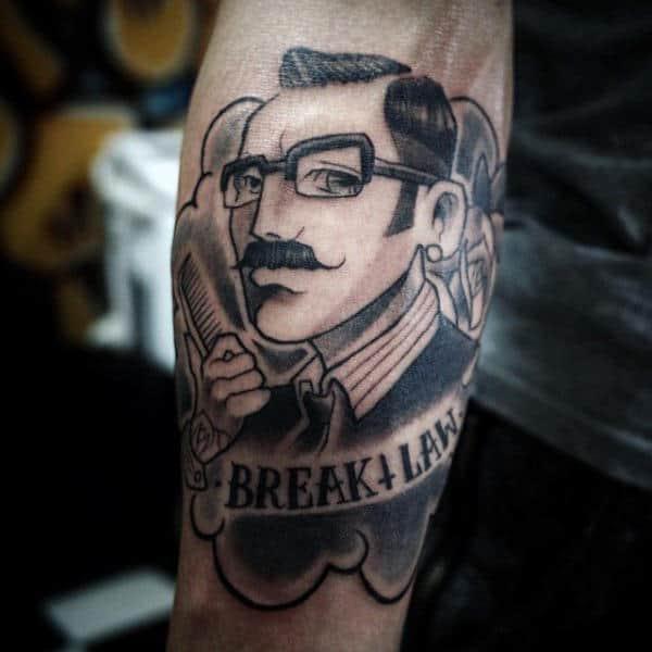100 Barber Tattoos For Men Masculine Design Ideas