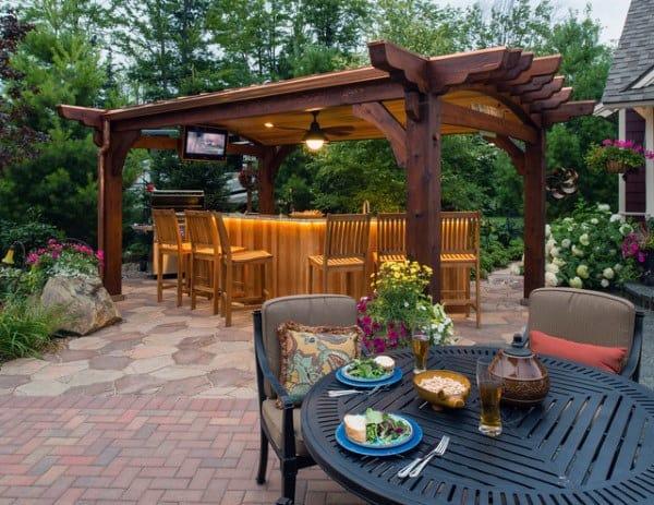 top 60 best pergola ideas backyard splendor in the shade Brick Pergola Designs id=63298