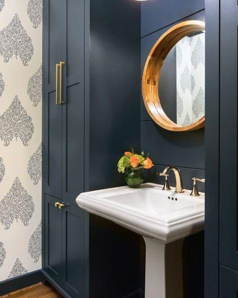 top 50 best blue bathroom ideas navy themed interior designs on blue paint bathroom ideas exterior id=21175