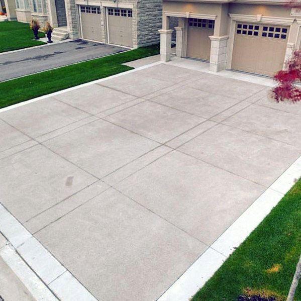 Top 50 Best Concrete Driveway Ideas - Front Yard Exterior ... on Concrete Front Yard Ideas id=38240