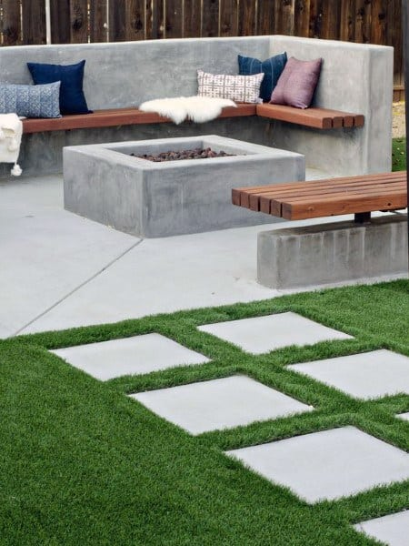 60 Concrete Patio Ideas - Unique Backyard Retreats on Backyard Concrete Patio Designs  id=11337