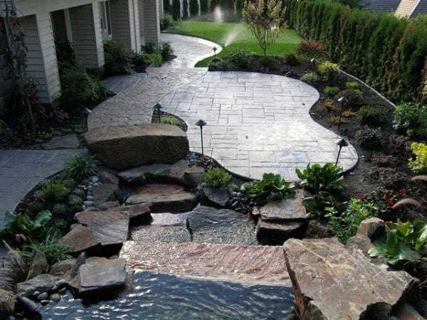 60 Concrete Patio Ideas - Unique Backyard Retreats on Backyard Concrete Patio Designs  id=30990