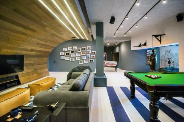60 basement man cave design ideas for