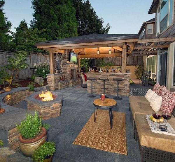 Top 60 Best Cool Backyard Ideas - Outdoor Retreat Designs on Back Patio Landscape Ideas id=66364