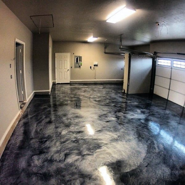 90 Garage Flooring Ideas For Men - Paint, Tiles And Epoxy ... on Garage Color Ideas  id=24626
