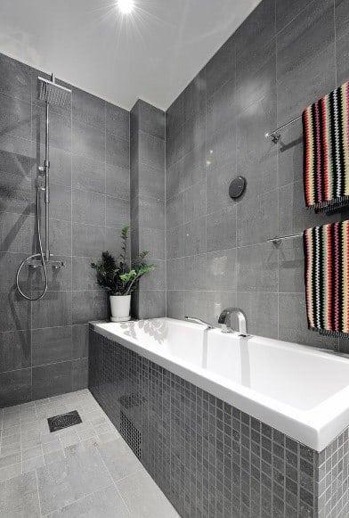 Top 60 Best Grey Bathroom Tile Ideas - Neutral Interior ... on Bathroom Tile Designs  id=19777
