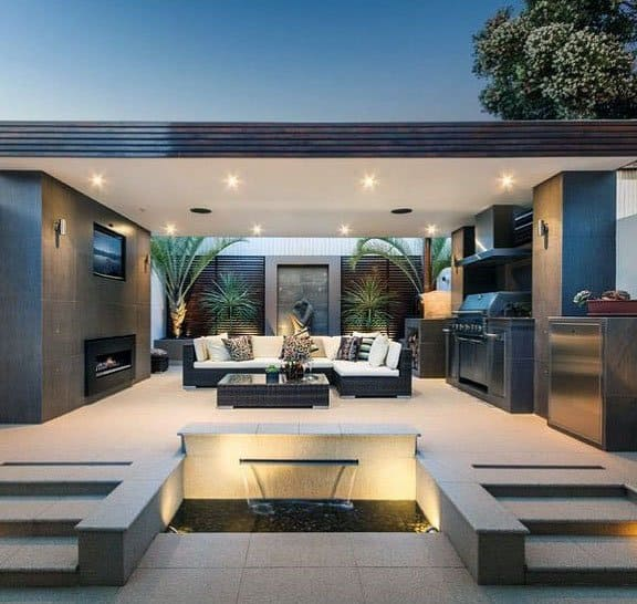 Top 70 Best Modern Patio Ideas - Contemporary Outdoor Designs on Modern Backyard Patio Ideas  id=80703