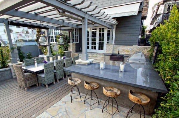 outdoor patio bar design ideas Top 50 Best Backyard Outdoor Bar Ideas - Cool Watering Holes