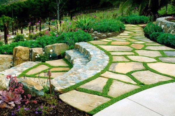 Top 50 Best Slope Landscaping Ideas - Hill Softscape Designs on Patio On A Slope Ideas id=97435