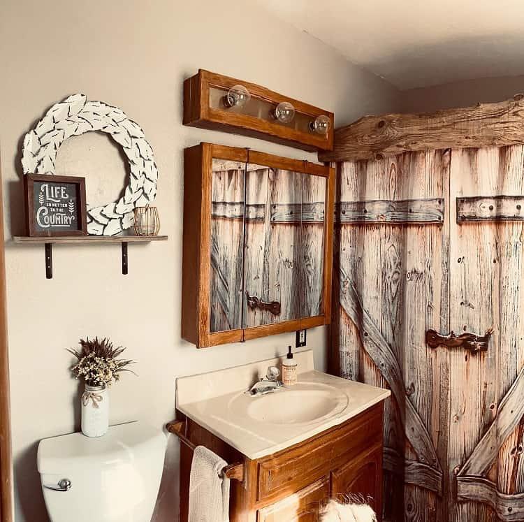 The 70 Best Farmhouse Bathroom Ideas - Home and Design ... on Rural Bathroom  id=30419