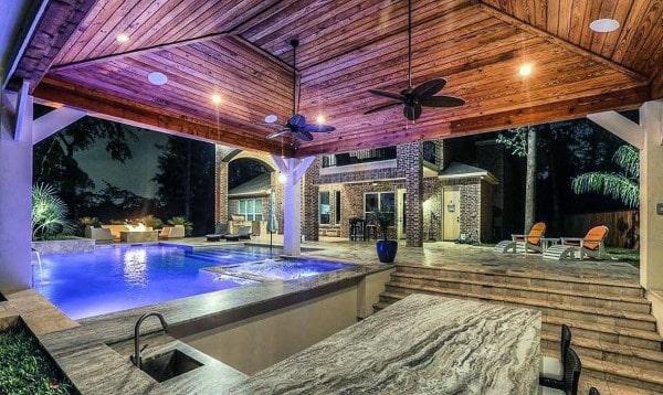 Top 60 Best Cool Backyard Ideas - Outdoor Retreat Designs on Backyard Pool Bar Designs  id=59337