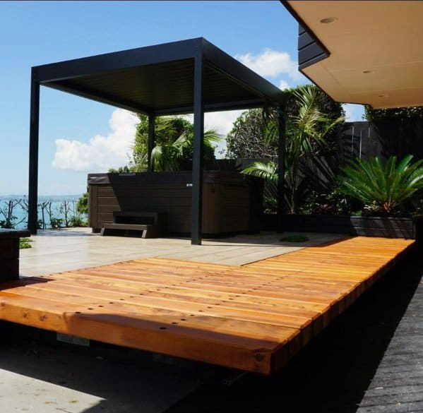 Top 60 Best Floating Deck Ideas - Contemporary Backyard ... on Floating Patio Ideas id=15015
