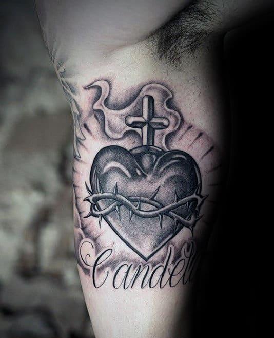 Corazon Jesus De Tattoo Sagrado