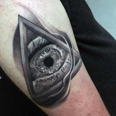 Crystal Clear Illuminati Tattoo Male Forearms