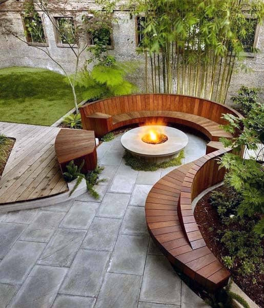 Top 50 Best Fire Pit Landscaping Ideas - Backyard Designs on Garden Ideas With Fire Pit id=63253