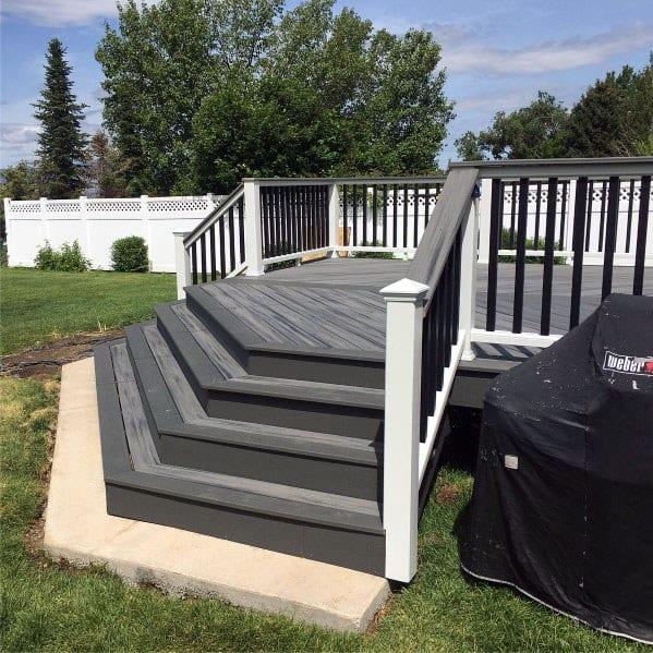 Top 50 Best Deck Steps Ideas - Backyard Design Inspiration on Backyard Patio Steps id=65180