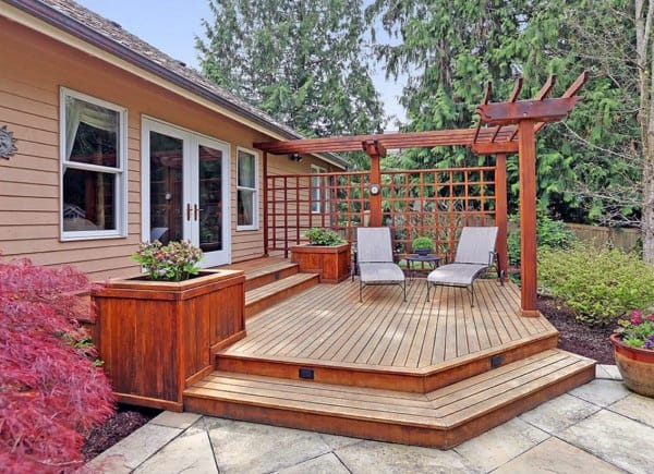 Top 60 Best Backyard Deck Ideas - Wood And Composite ... on Backyard Wood Patio Ideas id=71166