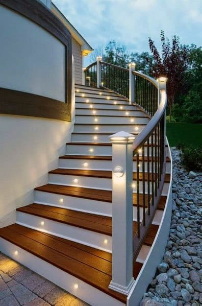 Top 60 Best Deck Lighting Ideas - Outdoor Illumination on Deck Inspiration  id=11431