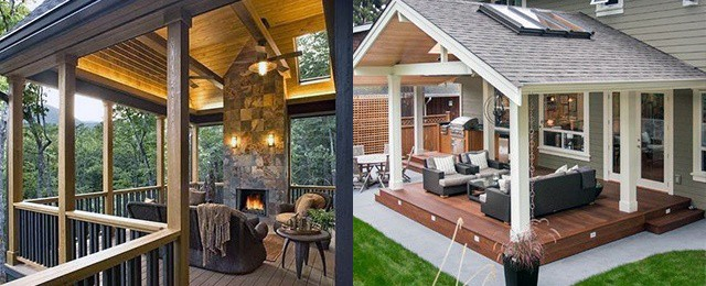 Top 40 Best Deck Roof Ideas - Covered Backyard Space Designs on Deck Over Patio Ideas id=25711