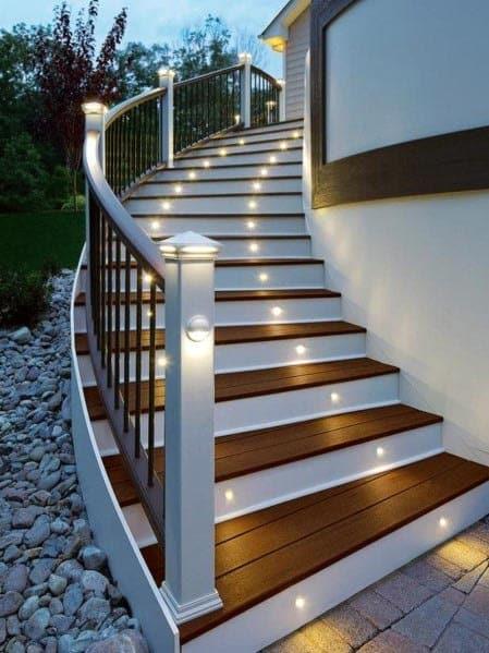 Top 50 Best Deck Steps Ideas - Backyard Design Inspiration on Backyard Patio Steps id=96867