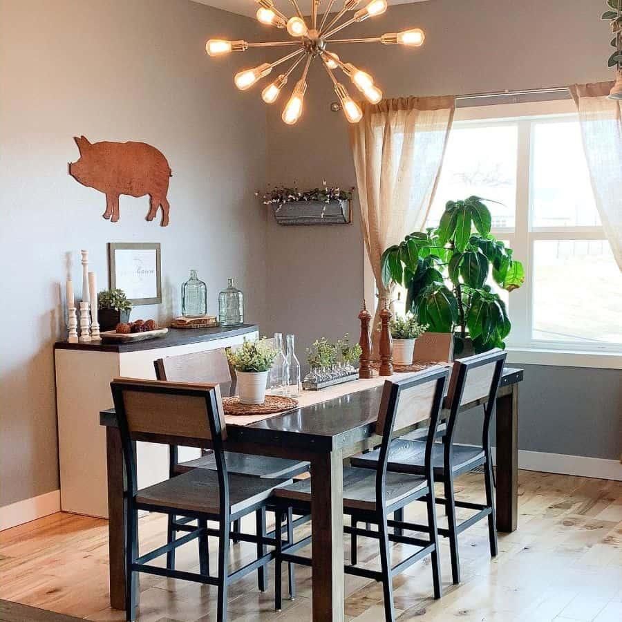The Top 80 Best Modern Farmhouse Decor Ideas - Interior ... on Farmhouse Dining Room Curtains  id=18708