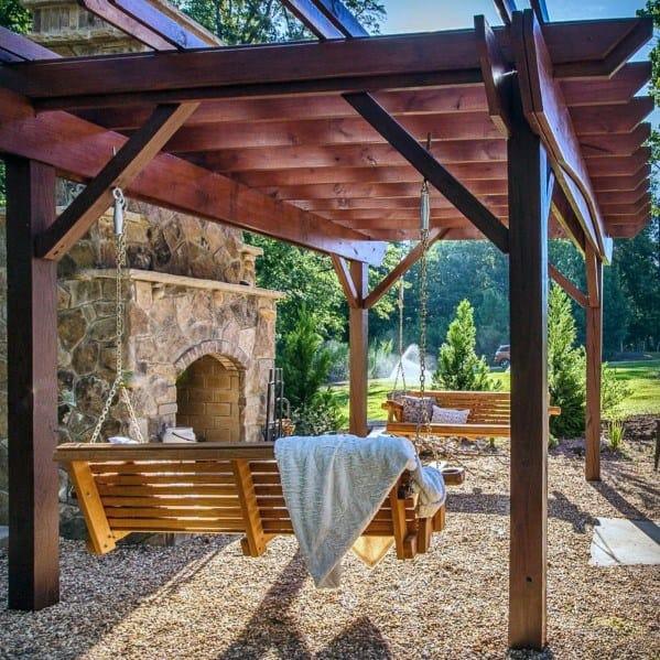Top 40 Best Gravel Patio Ideas - Backyard Designs on Backdoor Patio Ideas id=14273