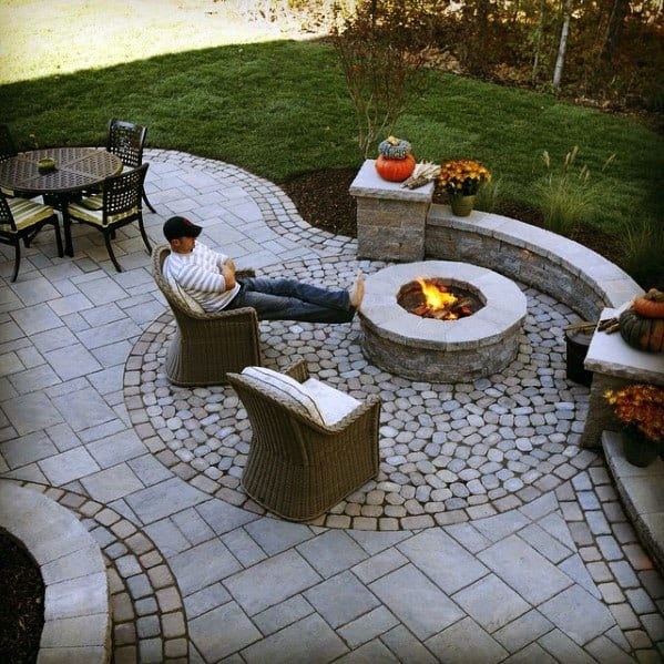 Top 60 Best Paver Patio Ideas - Backyard Dreamscape Designs on Yard Paver Ideas  id=88009