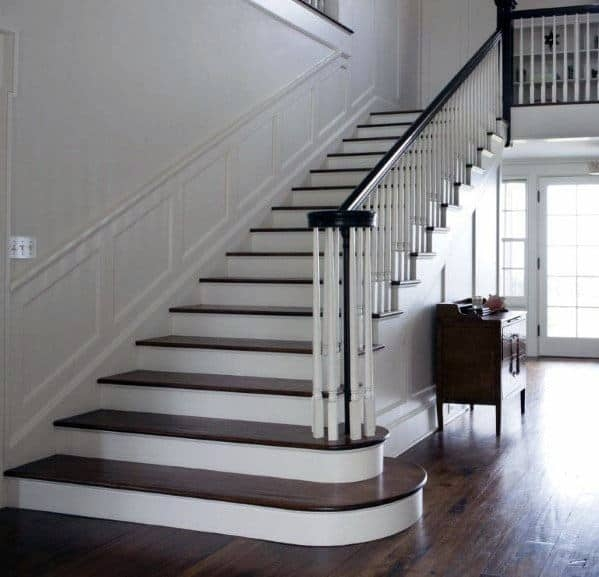 Top 70 Best Stair Railing Ideas Indoor Staircase Designs   Painted Handrails For Stairs   Modern   German Style   House   Pressure Treated   Before And After
