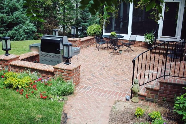 Top 50 Best Brick Patio Ideas - Home Backyard Designs on Small Backyard Brick Patio Ideas  id=75389