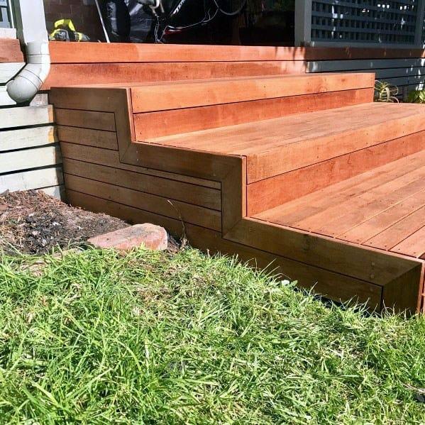 Top 50 Best Deck Steps Ideas - Backyard Design Inspiration on Backyard Patio Steps id=64962