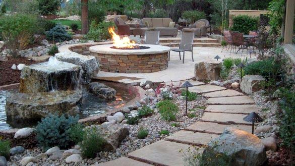 Top 50 Best Fire Pit Landscaping Ideas - Backyard Designs on Garden Ideas With Fire Pit id=28094