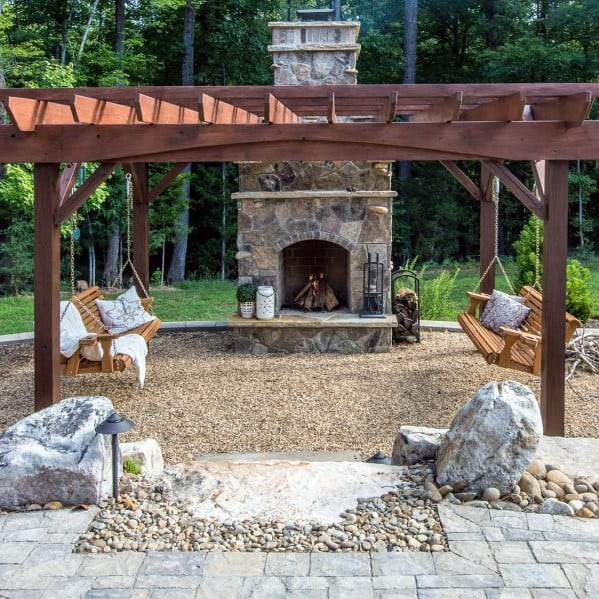 Top 40 Best Gravel Patio Ideas - Backyard Designs on Best Backyard Patio Designs id=14737