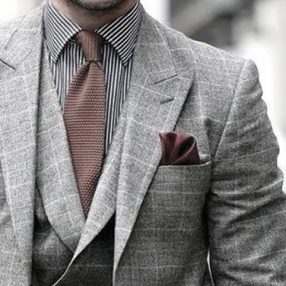 Exceptional Guys Styles With Grey Suit And Striped Dress Shirt