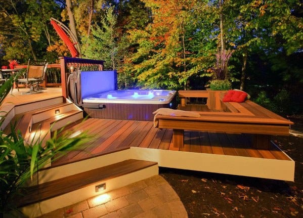 Top 80 Best Hot Tub Deck Ideas - Relaxing Backyard Designs on Deck And Hot Tub Ideas  id=51031