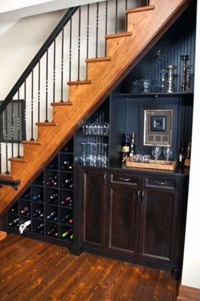 Top 70 Best Under Stairs Ideas Storage Designs | Home Mini Bar Design Under Staircase | Wine Cellar | Living Room | Basement Stairs | Basement Bar | Interior Design Ideas