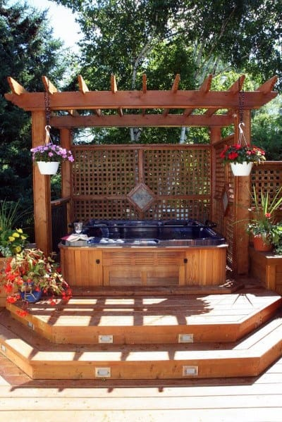 Top 80 Best Hot Tub Deck Ideas - Relaxing Backyard Designs on Deck And Hot Tub Ideas  id=57025
