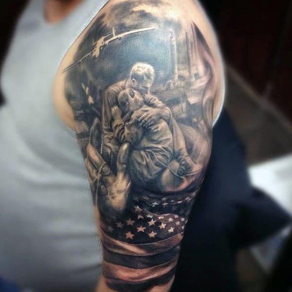 American Flag Air Force Tattoo