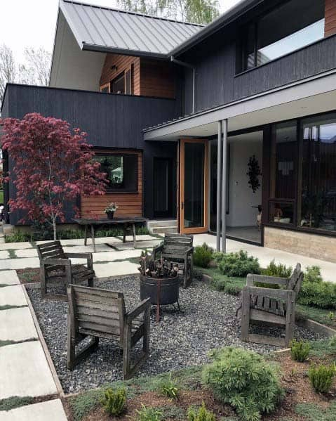 Top 50 Best Fire Pit Landscaping Ideas - Backyard Designs on Garden Ideas With Fire Pit id=48804