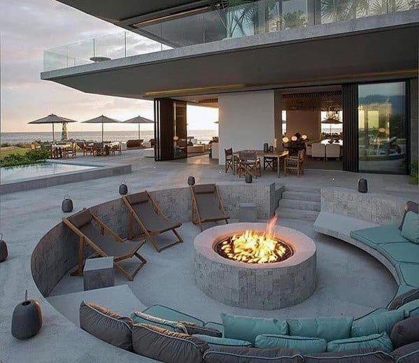Top 60 Best Outdoor Fire Pit Seating Ideas - Backyard Designs on Fire Pit Inspiration  id=35350