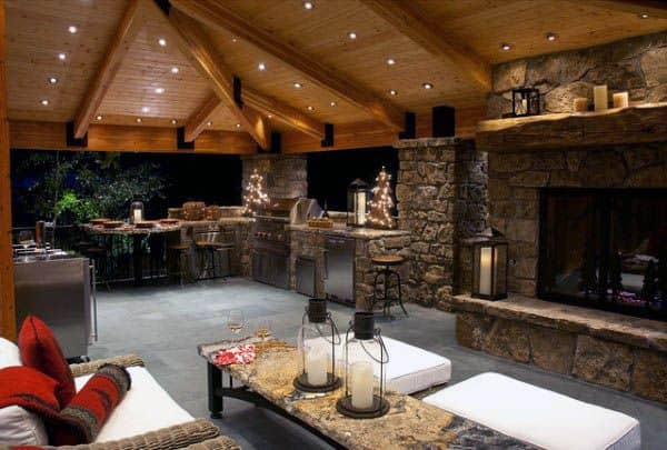 Top 60 Best Outdoor Kitchen Ideas - Chef Inspired Backyard ... on Outdoor Kitchen And Fireplace Ideas id=29745