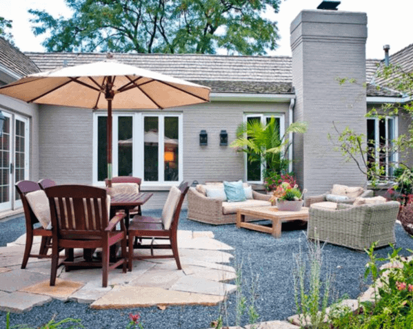 Top 40 Best Gravel Patio Ideas - Backyard Designs on Backdoor Patio Ideas id=44264