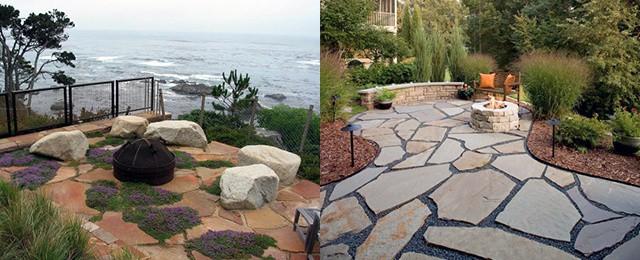 Top 60 Best Flagstone Patio Ideas - Hardscape Designs on Flagstone Backyard Patio id=38762